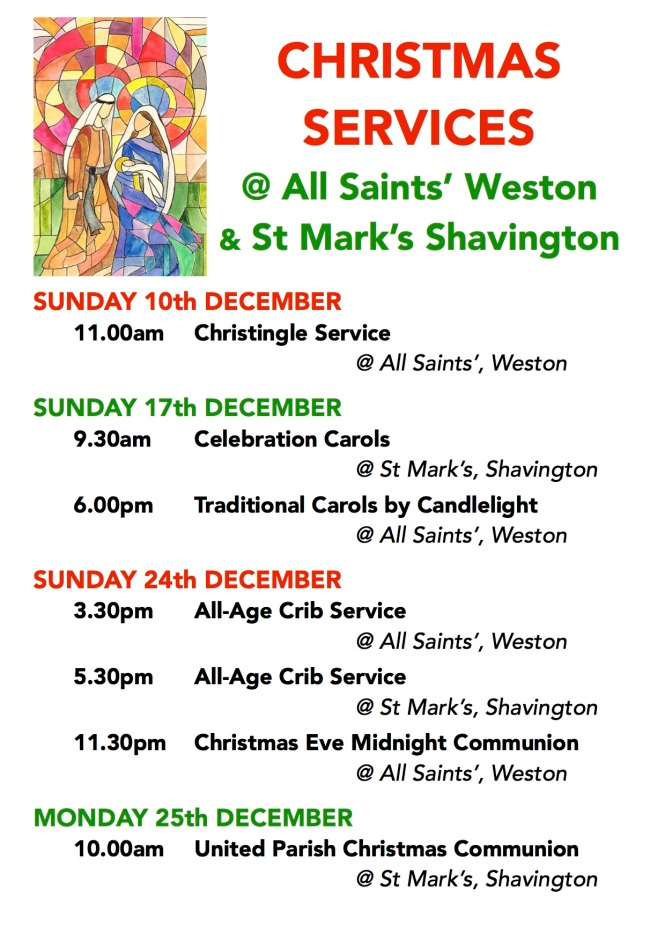 Christmas Poster Weston & Shavington 2017