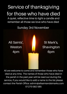 Service of thanksgiving for those who have died